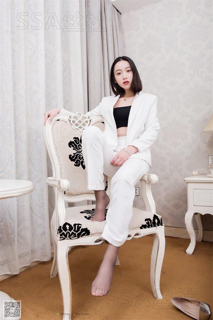 [SSA丝社] NO.065 大大 白色职业装裤里丝[99P/116M]